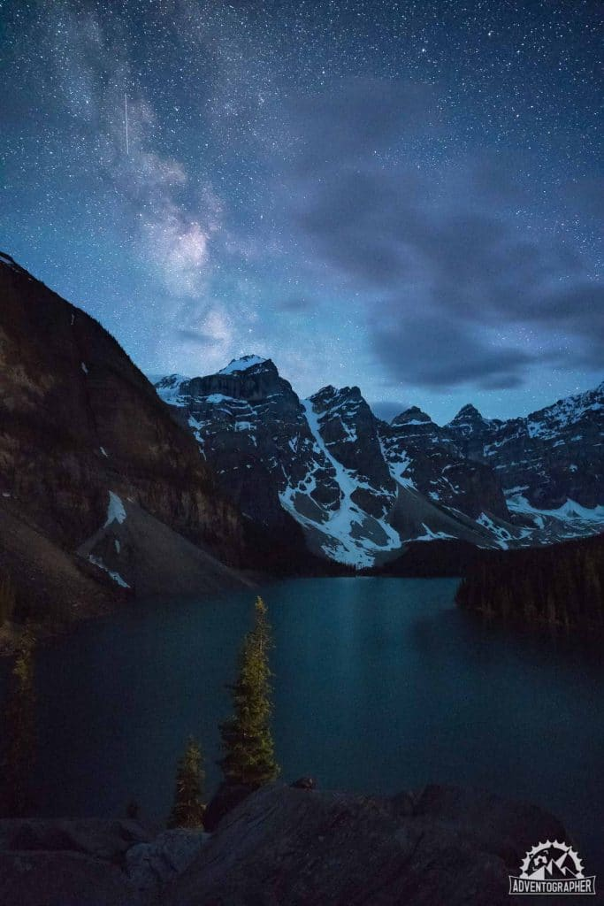 The Milky Way and Stars above Moraine Lake - Banff National Park