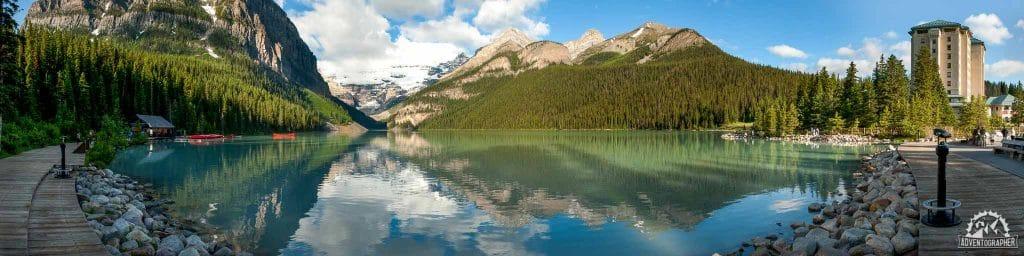 Lake Louise Boardwalk Panorama - Banff National Park
