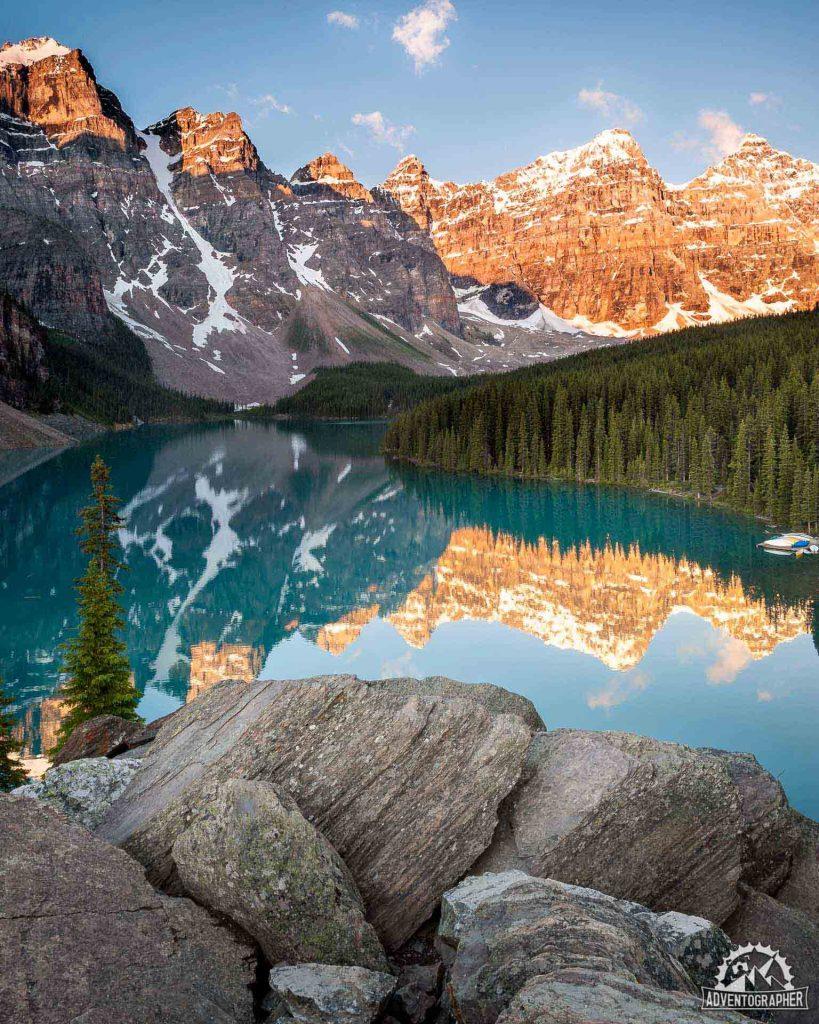 Moraine Lake Sunrise - Banff National Park