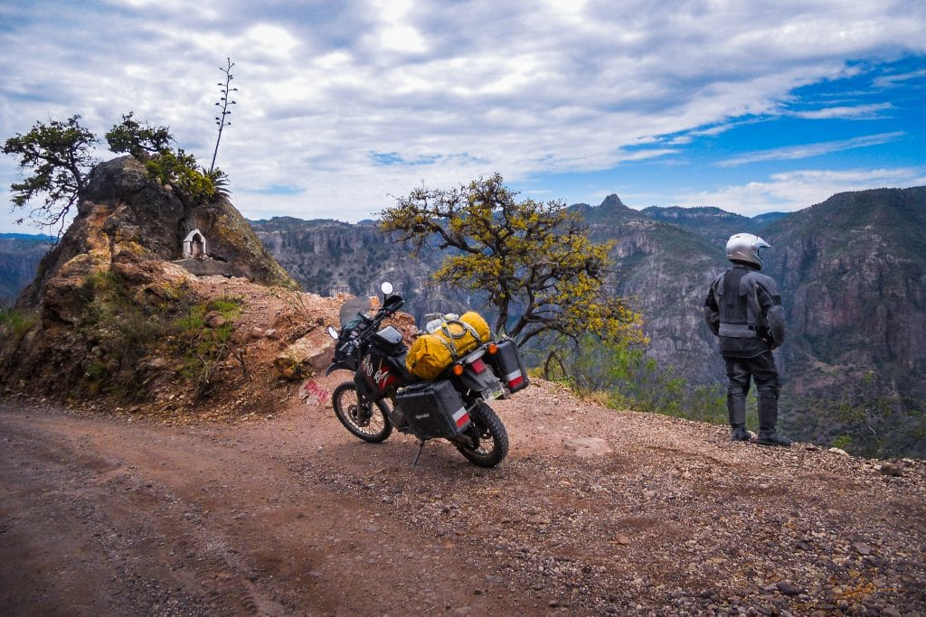 Patrick Horsfield exploring Mexico's copper canyon via motorcycle for his travel blog