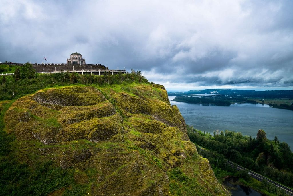 Vista House viewpoint in the columbia river gorge oregon