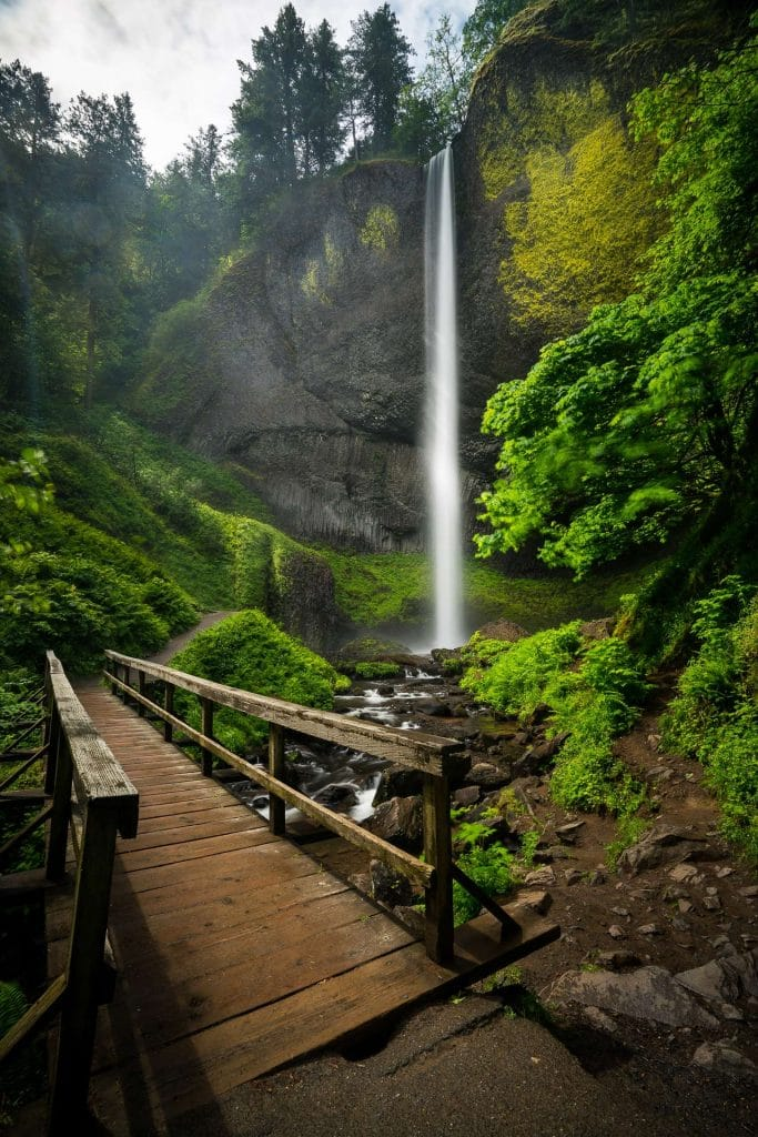 Latourell Waterfalls in oregon's Columbia River Gorge