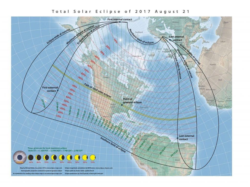 2017 Solar Eclipse Map