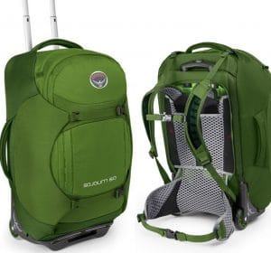 The Osprey Sojourn 60L Series of Rolling Backpacks