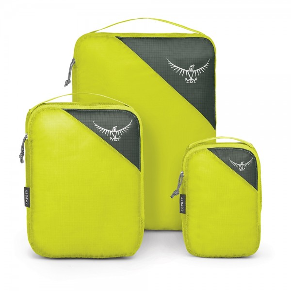 shown above are ultralight packing cubes, a perfect gift for any traveller