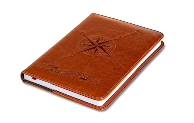 another of our best gifts for travellers has to be a travel notebook or journal like this one.