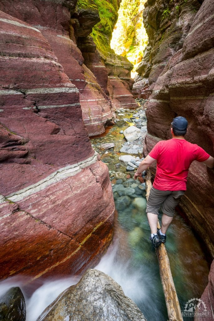 Red Rock Canyon hike in waterton lakes national park