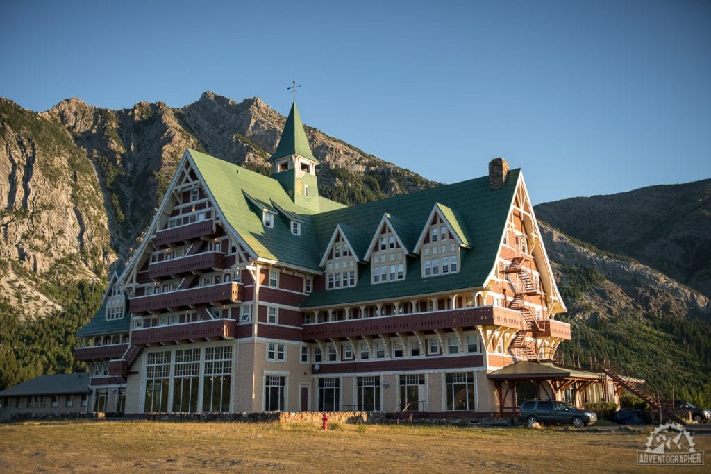 Prince of Wales Hotel in waterton national Park