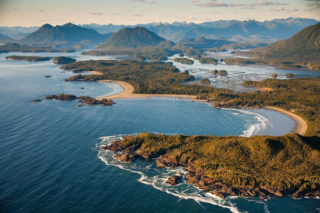 tofino BC from the air