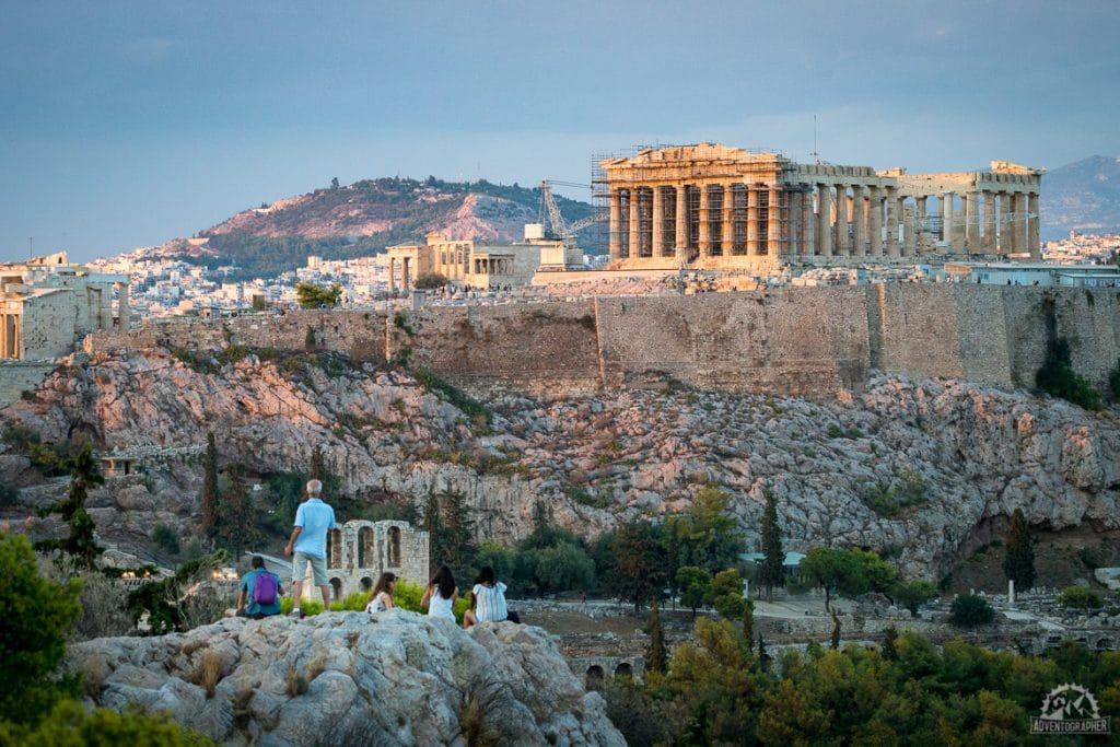 Acropolis views at sunrise are only one of the things to do in Athens