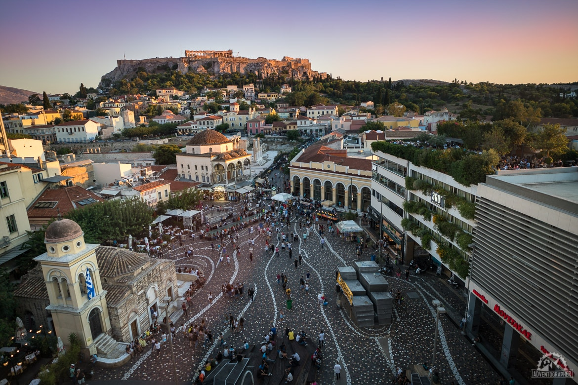 when trying to explore athens in 2 days a sunset from the rooftop is worthwhile