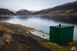 Horgshlidarlaug hot spring in iceland