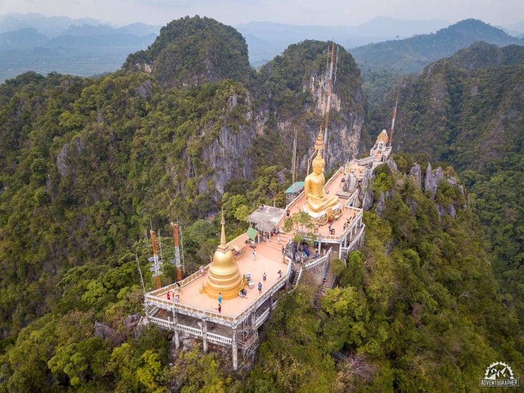 Tiger Cave Temple Upper Pagoda by Drone