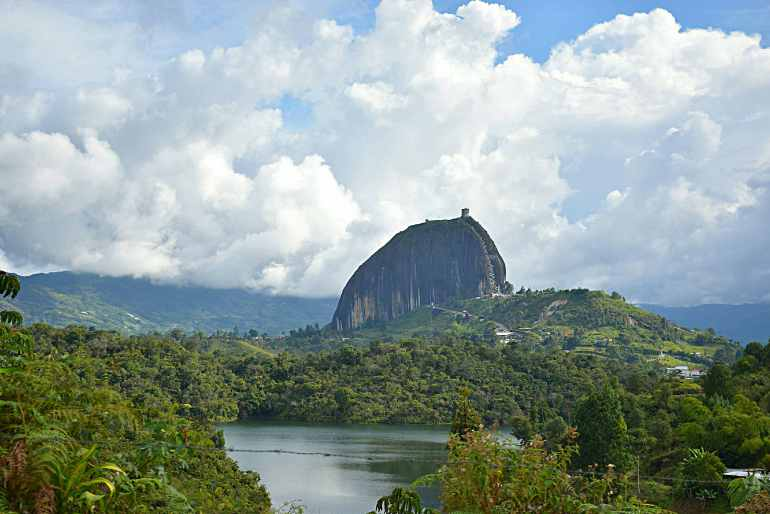 The best places to visit in colombia includes Guatape, Colombia