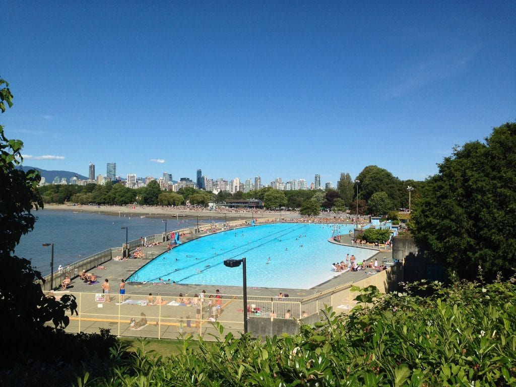 Vancouver weekends are a great time to visit the pools