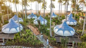 Nacpan Beach Glamping is a unique accommodation offering just steps from the beach!