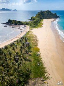 Nacpan's twin beaches
