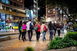 is colombia safe - walking at night