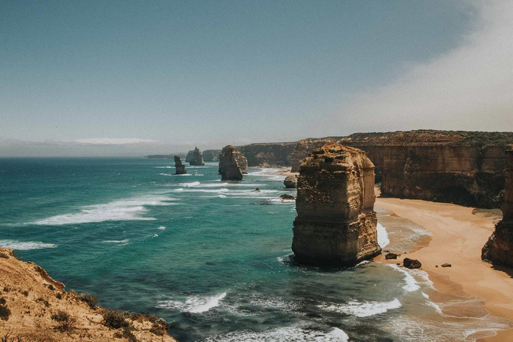 Australia's famous Great Ocean Road is accessible by train too