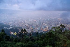 Bogota colombia from above, is it safe?