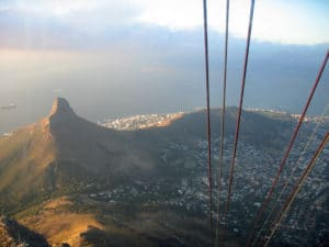 The view from the Table Mountain cable car is impressive!