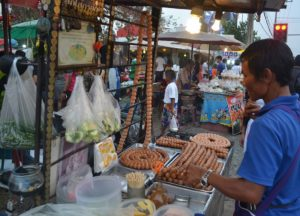 Issan Sausage is a staple street foodaround thailand
