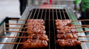 Moo Ping is essentially BBQ Pork on a stick,a delicious Thai street food!