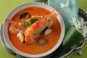 Tom Yum Soup is a thai street food staple.