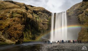 Skogafoss is on of the most accessible waterfalls in Iceland.