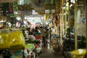 Pak Klong Flower Market in Bangkok
