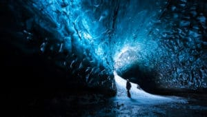 Ice caving canonly be done in winterin iceland