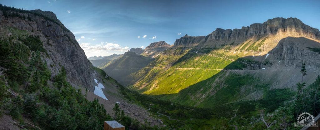 Going to the sun road is a stunning scenic byway that intersects glacier national park
