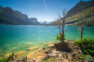 Saint mary lake is one pof the best places to see in glacier national park