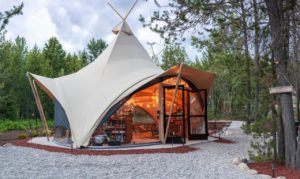 Canvas tents of Under Canvas Glacier offer a unique glamping experience